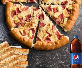 Fiesta Hawaiiana Hut Cheese - Pizza Hut