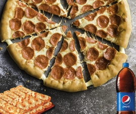 Fiesta Pepperoni Lovers Hut Cheese - Pizza Hut