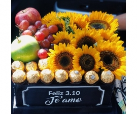 Marsella Sunflower Fruit Box - RSVP Designs